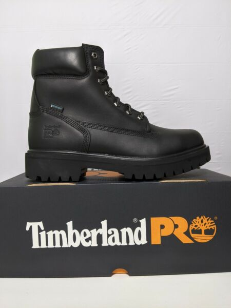 Timberland PRO Direct Attach 6quot; Black Steel Toe Boots 26038 Men's Size 10 $89.99