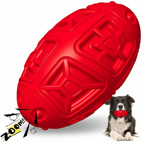 Dog Toys For Aggressive Chewers Indestructible Dog Chew Toys Squeaky Fetch Ball $9.89
