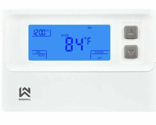 Non programmable Thermostat Heat Pump Thermostat 24 Volt W Backlit Digital $19.99