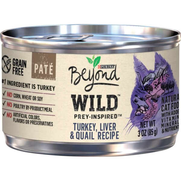 Purina Beyond Grain Free Natural High Protein Pate Wet Cat Food 12 Cans $19.99