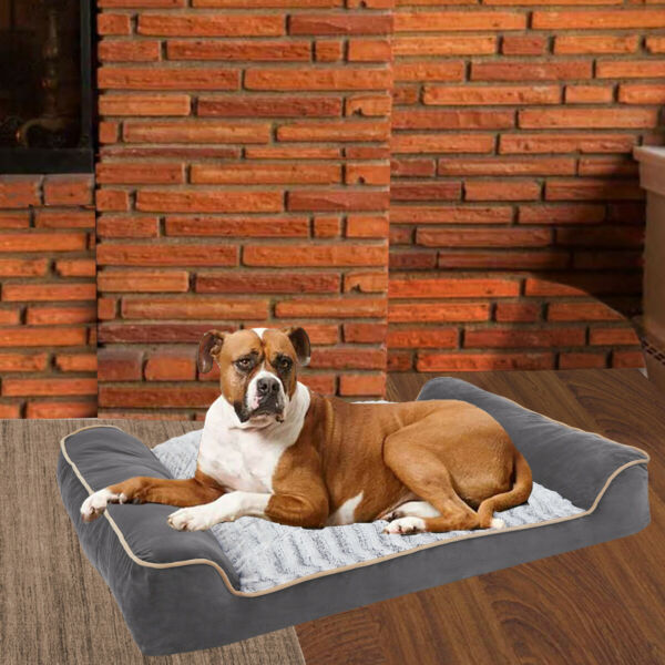 Heavy Duty Large Orthopedic Dog Bed Big Bolster for Large Dogs Foam Sofa Couch $25.96