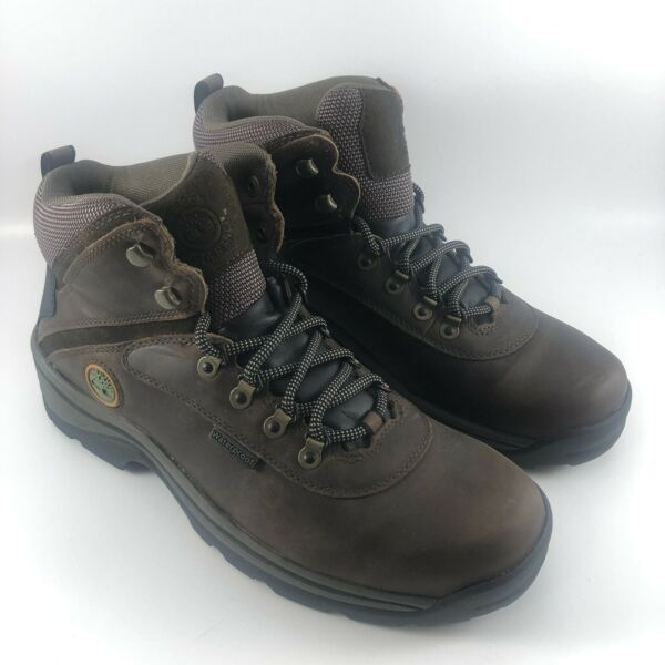 Timberland Men#x27;s White Ledge Hiking Boots Waterproof Medium Brown Size 10.5 W $75.00