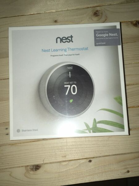Unopened Nest 3rd Generation Learning White Programmable Thermostat. $167.99