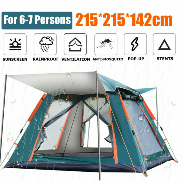 6 7 People Large Waterproof Automatic Outdoor Instant Pop Up Tent Camping Hiking $11.88