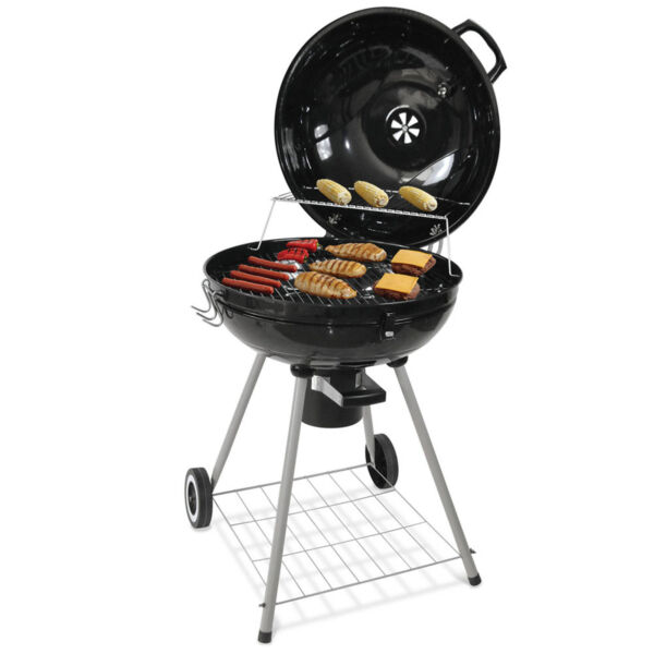 35#x27;#x27; Outdoor BBQ Charcoal Grill Smoker Barbecue Pit Camping Backyard Meat Cooker