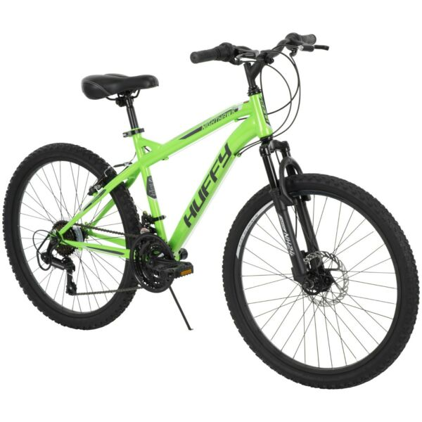 24 inch Mountain Bike for Men Neon Green with 18 speed and Durable Steel Frame $278.99