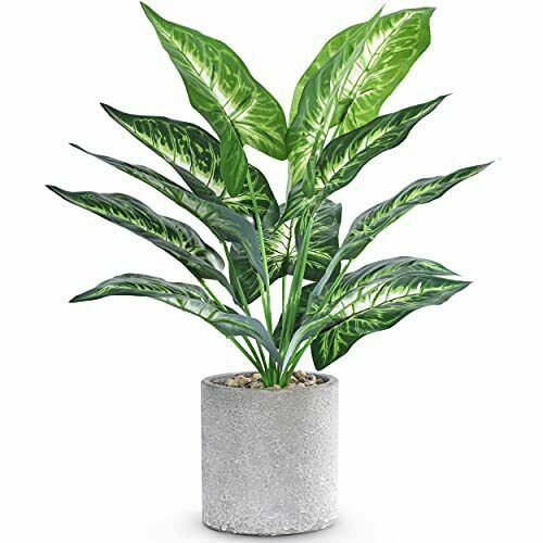 Fake Plants Faux Potted Plants Small Artificial Plants Indoor for Home Decor $16.66