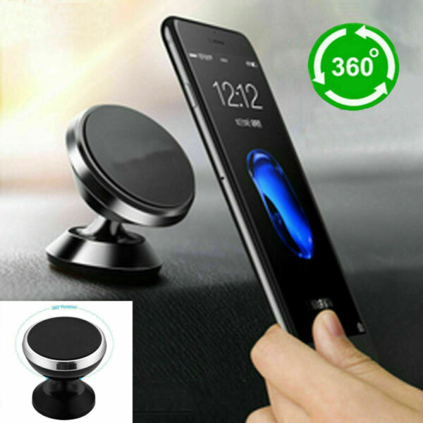 Universal 360° Magnetic Car Mount Cell Phone Holder Stand For iPhone Samsung GPS $6.99