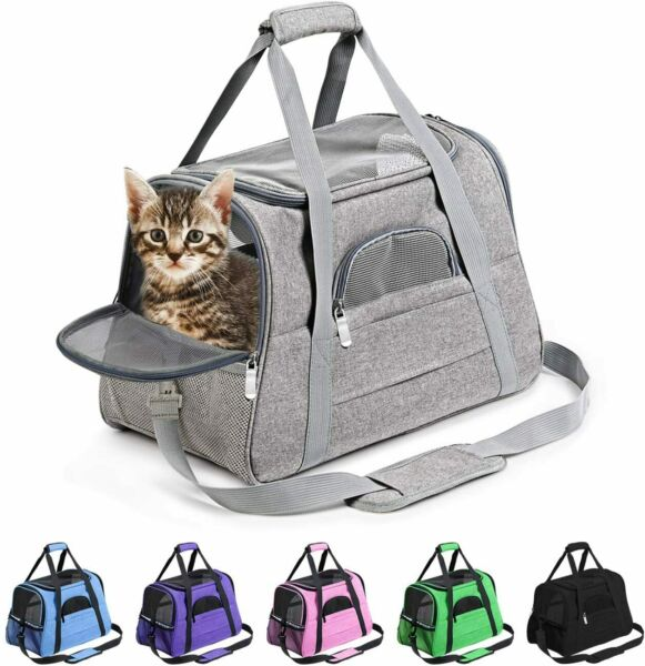 Prodigen Pet Carrier Airline Approved Pet Carrier Dog Carriers for Small Dogs $25.99