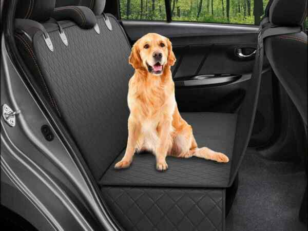 Dog Back Seat Cover Protector With Adjustable Straps Waterproof Scratchproof $22.99