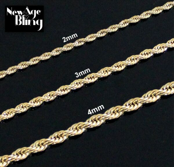 Stainless Steel Rope Chain Gold 16quot; 30quot; Men Women Necklace 2 3 4mm $6.40
