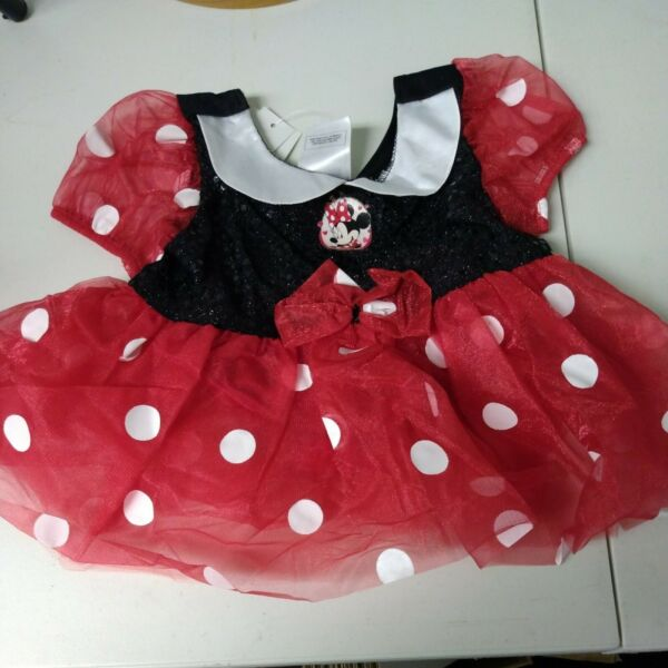 Disney Store MINNIE MOUSE Baby COSTUME 12 18m HALLOWEEN Infant Dress NWT