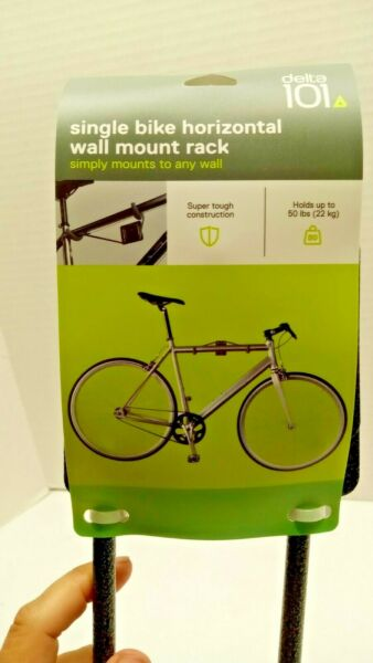 Delta 101 Single Bike Horizontal Wall Mount Rack Holds Up To 50lbs $16.95