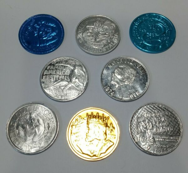 New Orleans Doubloons Lot of 8. Alluminum. 1970s amp; 1980s. $14.97