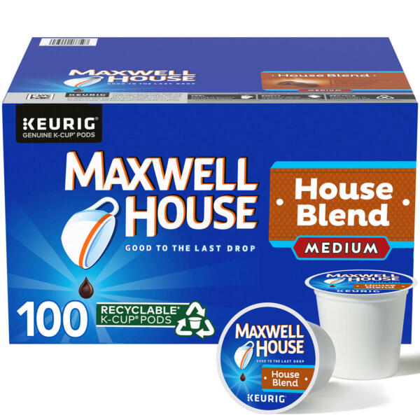 Maxwell House House Blend K Cup Coffee Pods 100 ct.