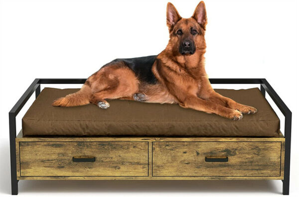 Elevated Pet Dog Beds Frame Dogs Cats Sofa Chair with Storage Drawer indoor $59.99