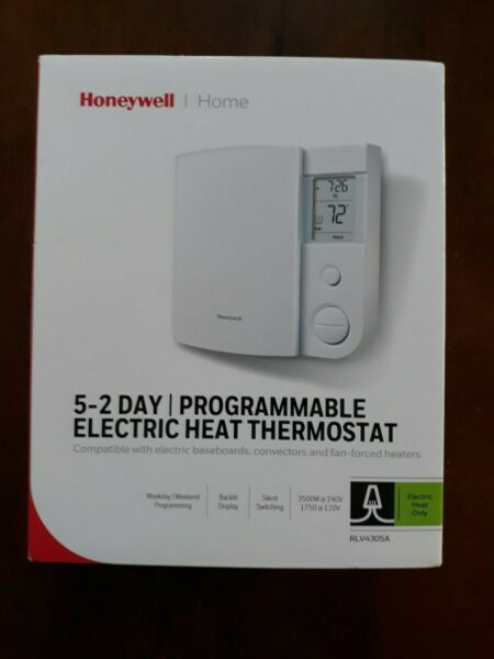 HONEYWELL 5 2 DAY PROGRAMMABLE ELECTRIC HEAT THERMOSTAT NEW IN BOX FREE SHIP $29.29