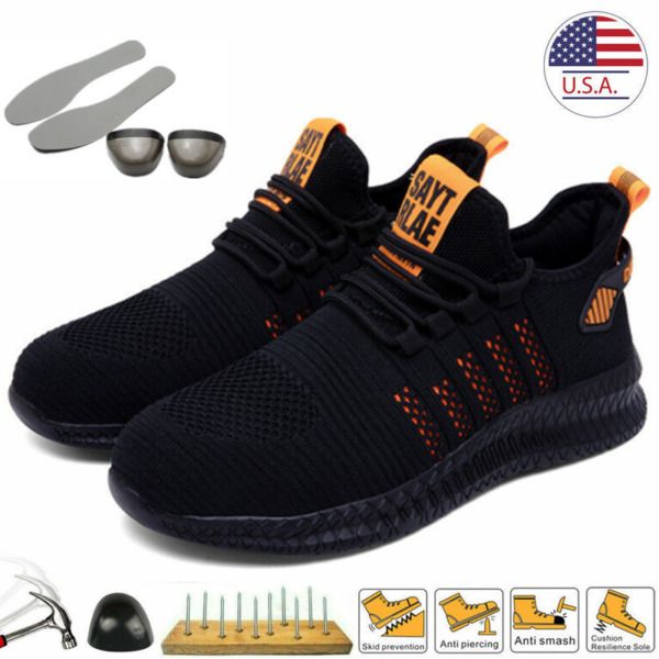 Mens Work Safety Shoes Steel Toe Cap Lightweight Boots Indestructible Sneakers $34.98