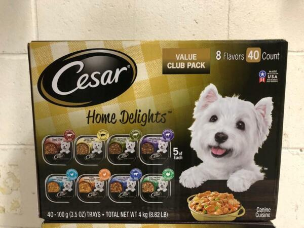 Cesar Home Delights Wet Dog Food 8 Flavor Variety Pack in Sauces 3.5 oz. 40ct. $25.31