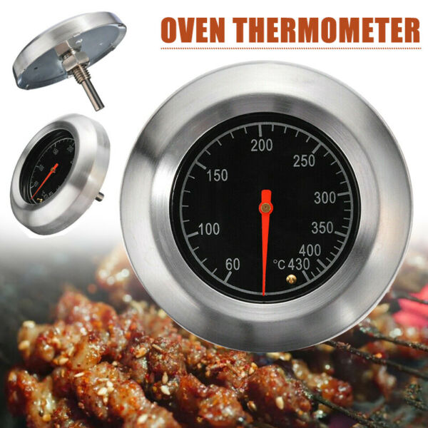 3quot; Stainless Steel BBQ Smoker Grill Thermometer Temp Gauge Temperature Barbecue