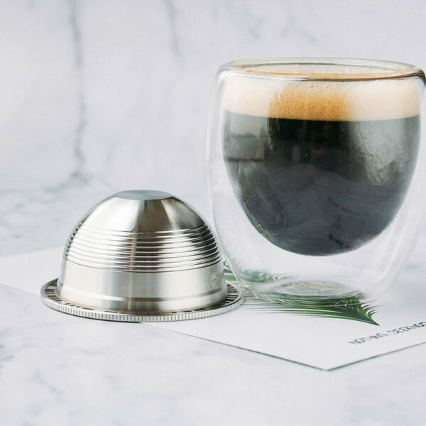 Stainless Steel Reusable Coffee Capsules Filter for Nespresso Delonghi Machine