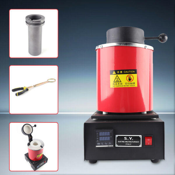 3KG Electric Melting Furnace Gold Silver Metal Smelting Jewelry Tool 110V 1400W $180.52