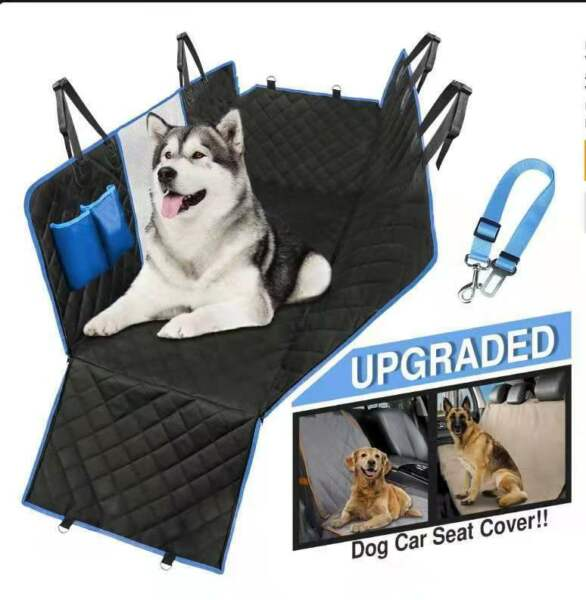 Dog seat cover with mesh and window 100% waterproof dog car seat cover $39.99
