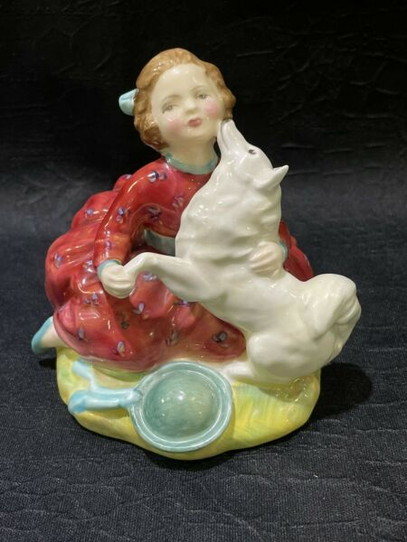 Royal Doulton HN2167 Home Again Young Girl with Dog Made in England Figurine $49.00