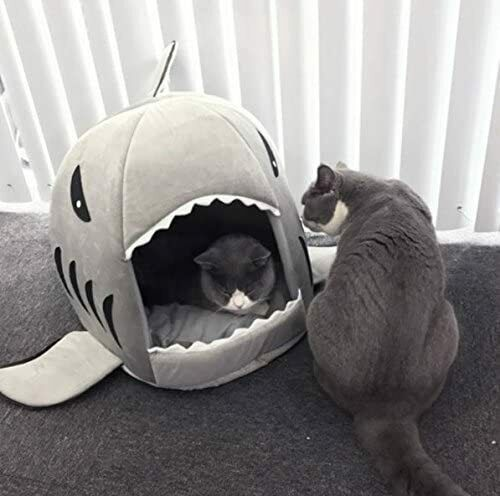 M Shark Mouth Pet Dog Cat House Removableamp;Washable Bed Dog up to 12lbs $18.99