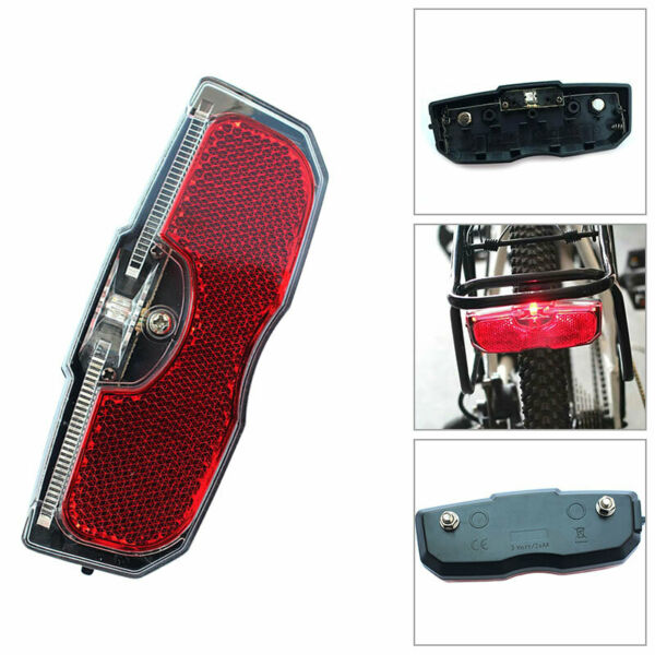 Bike Cycle Bicycle Rear Tail Light Led For Luggage Carrier Rack Tool $9.70
