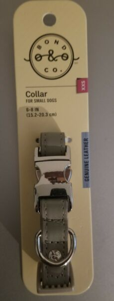 Dog Collar Small Dog Leather Silver $11.00