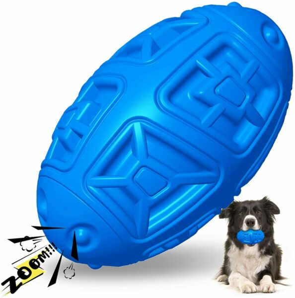 Dog Toys For Aggressive Chewers Indestructible Squeaky Dog Toy Fetch Ball $9.89