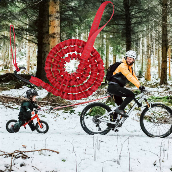 Bicycle Towing Rope for Kids MTB Trailer Bike Elastic Belt Reflective Bungee Out $16.99