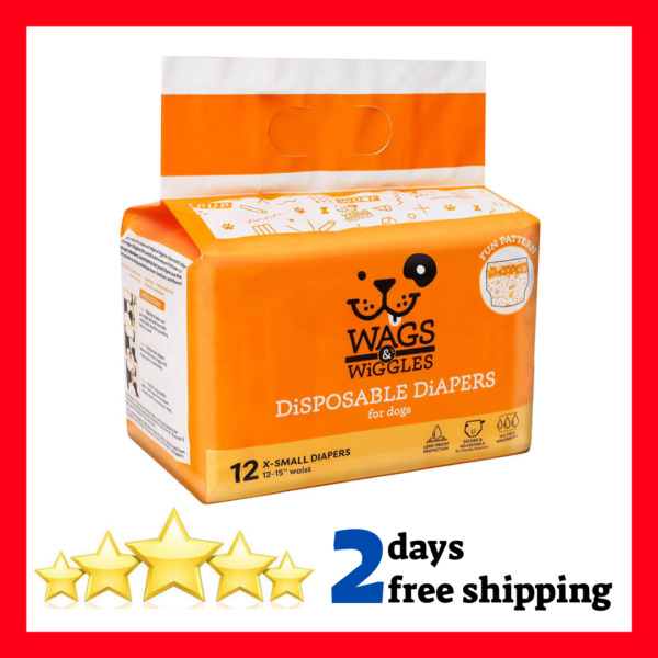 Dog Diapers Disposable Dog Diapers Male Doggie Female Dog Wraps All Sized Dogs $9.76