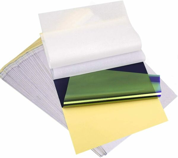 25 Pcs Tattoo Transfer Paper Carbon Thermal Stencil Tracing Hectograph A4 Size $6.99