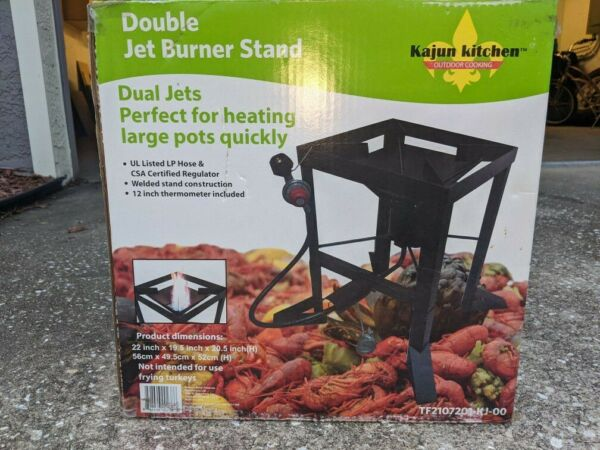 NEW IN BOX double jet burner stand $45