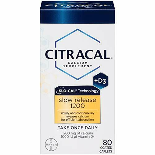 Citracal Slow Release 1200 mg Calcium Citrate with 1000 IU Vitamin D3 80 Count $18.01