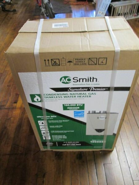 AO Smith GT15 240 NI Premier Indoor Tankless Natural Gas Water Heater 6.6GPM F S $599.99