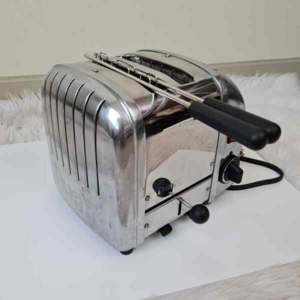 Vintage Dualit 2 Slice Toaster Stainless Steel Silver Made in England D2BMH