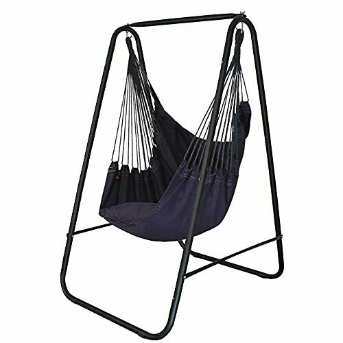 Hammock ChairHanging Swing with Weather Resistant Iron Simple Stand Max 485lbs $199.23