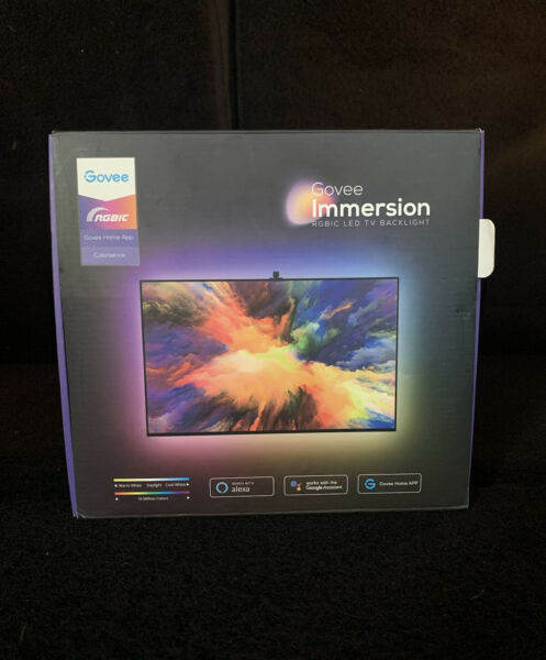 Govee Immersion Wi Fi TV Backlight LED Strip Lights with Camera 55 or 65in TVs $79.99