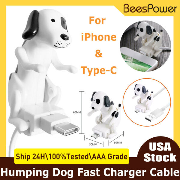 1.2M Funny Humping Dog Fast Charger USB Cable Cord For iPhone Type C Smartphone $11.99