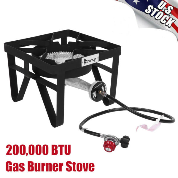 Portable Propane Gas Burner Stove 200000 BTU for Outdoor Camping Fishing Cooker $101.52
