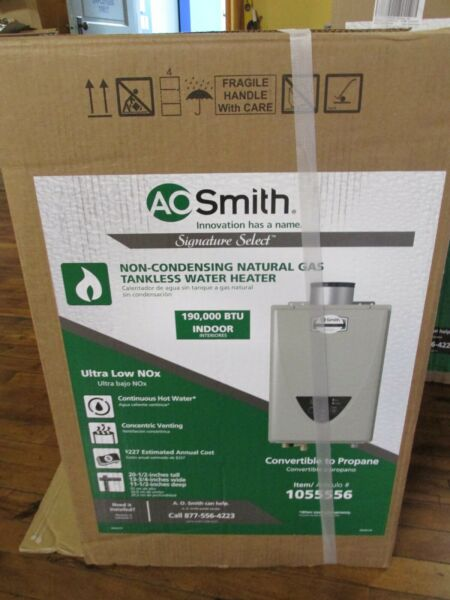 New AO Smith GT15 310C I 100 Tankless Natural Gas Water Heater Indoor FREE SHIP $565.00