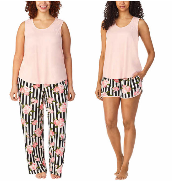 NEW Betsey Johnson Ladies#x27; 3 piece Lounge Set SELECT COLOR amp; SIZE FREE SHIPPING