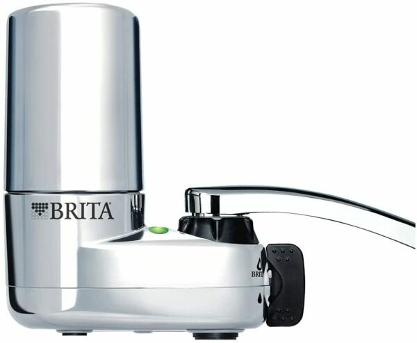 Brita Basic Faucet Water Filter System Chrome 1 Count