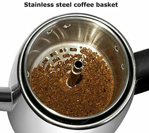 Mixpresso Electric Percolator Coffee Pot Stainless Steel Coffee Maker