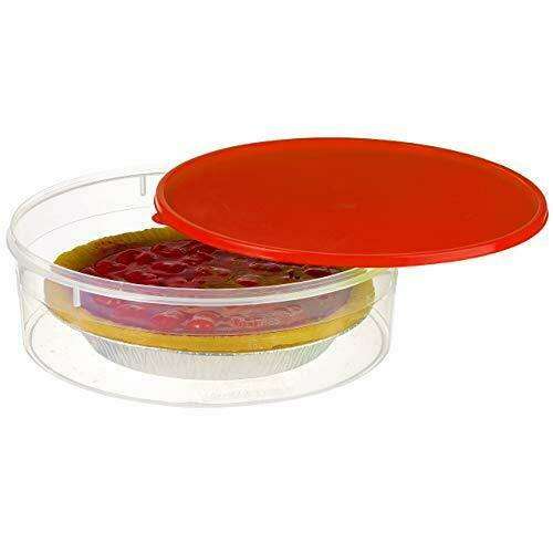 Plastic Pie Keeper with Lid 10.5 Christmas Cupcake Carrier Muffin Cookie Cake...