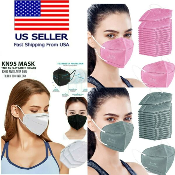 50 100 PCS Black White KN95 Protective 5 Layer Face Mask Disposable K N95 Marks $11.98