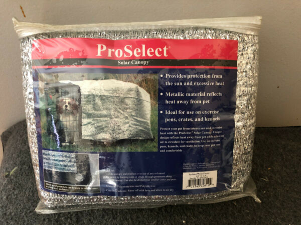 ProSelect Solar Crate Canopies — Protective Coverings for Dog Crates 10 X 12 $50.00